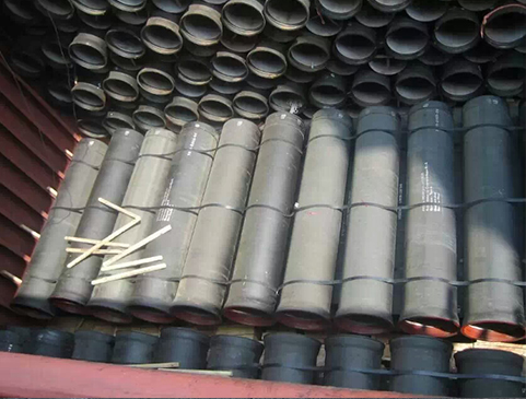 трубы из высокопрочного чугуна (раструбное соединение с анкерным устройством или фиксированное соединение )